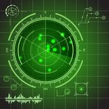 Sistema de elemento de HUD Futuristic Technology Green Display Vector Imagen de archivo libre de regalías