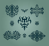 Sistema de elementos abstracto del diseño Imagen de archivo