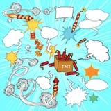 Sistema de elementos cómicos Imágenes de archivo libres de regalías