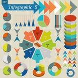 Sistema de elementos de Infographics para el negocio - vector Fotos de archivo