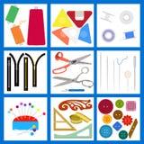 Sistema de elementos de la costura plana Imagen de archivo
