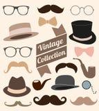 Sistema de elementos de la moda del vintage de la colección.  ejemplo Fotografía de archivo