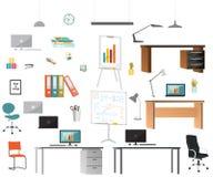 Sistema de elementos de la oficina fotos de archivo libres de regalías