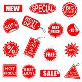 Sistema de elementos de la venta del vector 1 Fotografía de archivo