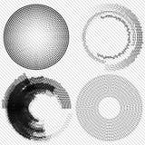 Sistema de elementos de semitono abstractos del diseño, vector Imagen de archivo