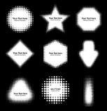 Sistema de elementos de semitono blancos abstractos del diseño Foto de archivo libre de regalías