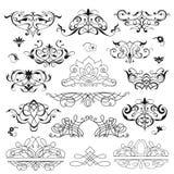 Sistema de elementos decorativos Imagen de archivo