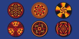Sistema de elementos decorativos africanos Mantas étnicas ilustración del vector