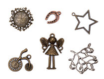 Sistema de elementos decorativos del metal del vintage Foto de archivo