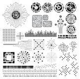 Sistema de elementos del diseño Imagen de archivo libre de regalías