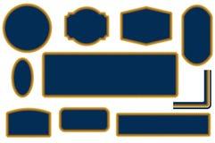 Sistema de elementos del diseño del capítulo de la cuerda stock de ilustración