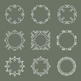 Sistema de elementos del diseño del esquema del vector Imagenes de archivo