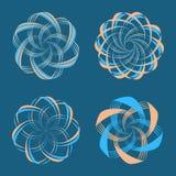 Sistema de elementos del diseño del logotipo Fotografía de archivo