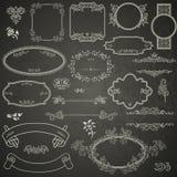 Sistema de elementos del diseño del vintage Foto de archivo
