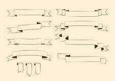 Sistema de elementos del diseño del vintage Fotografía de archivo libre de regalías