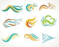 Sistema de elementos del diseño gráfico Imagen de archivo libre de regalías