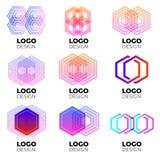 Sistema de elementos del diseño del logotipo del vector imagen de archivo libre de regalías
