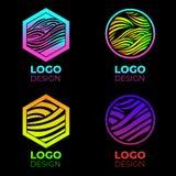 Sistema de elementos del diseño del logotipo del vector fotografía de archivo libre de regalías