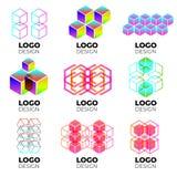 Sistema de elementos del diseño del logotipo del vector fotos de archivo