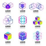 Sistema de elementos del diseño del logotipo del vector imagen de archivo