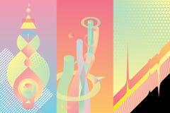 Sistema de elementos del diseño moderno del color Fotografía de archivo