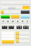 Sistema de elementos del diseño web Fotos de archivo
