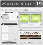 Sistema de elementos del diseño web Foto de archivo libre de regalías
