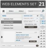 Sistema de elementos del diseño web Imagenes de archivo