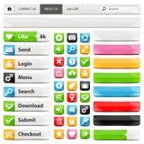 Sistema de elementos del diseño web Imagen de archivo