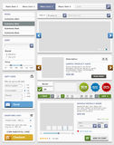 Sistema de elementos del diseño web. Tienda en línea. Fotos de archivo libres de regalías