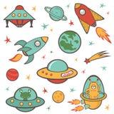 Sistema de elementos del espacio exterior ilustración del vector