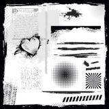 Sistema de elementos del grunge, Foto de archivo