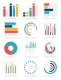 Sistema de elementos del infographics Fotografía de archivo