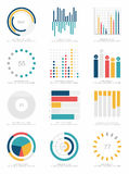 Sistema de elementos del infographics Imágenes de archivo libres de regalías