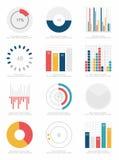 Sistema de elementos del infographics Foto de archivo libre de regalías