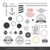 Sistema de elementos del infographics del estilo del inconformista para el diseño retro Con r Foto de archivo