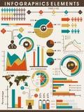 Sistema de elementos del infographics del negocio Imagenes de archivo