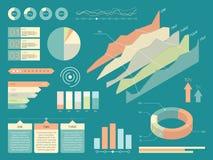 Sistema de elementos del infographics Ejemplo plano del vector del estilo Fotos de archivo libres de regalías