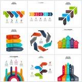 Sistema de elementos del infographics de las flechas del vector Fotografía de archivo libre de regalías