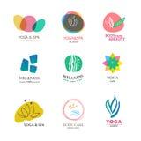 Sistema de elementos del logotipo del vector fotos de archivo