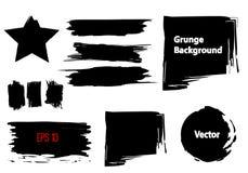 Sistema de elementos del movimiento del Grunge libre illustration