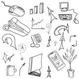 Sistema de elementos del negocio Imágenes de archivo libres de regalías