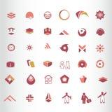Sistema de elementos del símbolo Imagenes de archivo