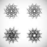 Sistema de elementos del spirograph Colección de formas abstractas para el diseño Sistema geométrico del vector Fotos de archivo libres de regalías