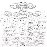 Sistema de elementos del vector y de decoraciones caligráficos de la página Imagenes de archivo