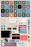 Sistema de elementos del Web Fotografía de archivo