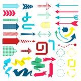 Sistema de elementos del web en estilo material moderno del diseño flechas Foto de archivo libre de regalías