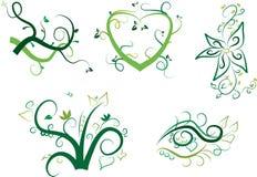 Sistema de elementos floral del vector libre illustration