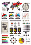 Sistema de elementos infographic stock de ilustración