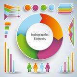 Sistema de elementos infographic brillantes Foto de archivo libre de regalías
